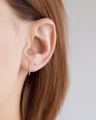 Express One Six Five Silver Ella Horseshoe Earrings