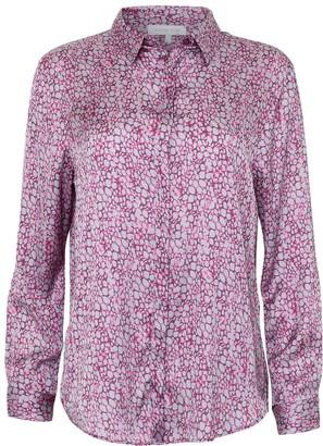 Silver Pink Satin Shirt Polka Dot Passion