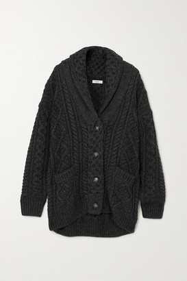 Etoile Isabel Marant Regan Cable-knit Wool Cardigan - Black
