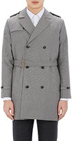 Brooklyn Tailors BROOKLYN TAILORS MEN'S BELTED DOUBLE-BREASTED TRENCH COAT-GREY SIZE 3