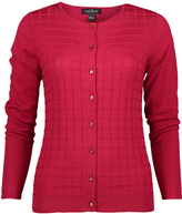 August Silk Ruby Textured Cardigan