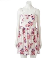 Juniors' Lily Rose Sweetheart Floral Lace Dress