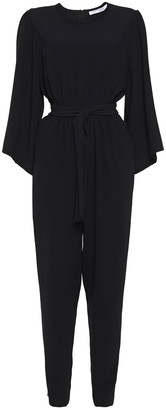 IRO Diaparly Belted Gathered Crepe Jumpsuit