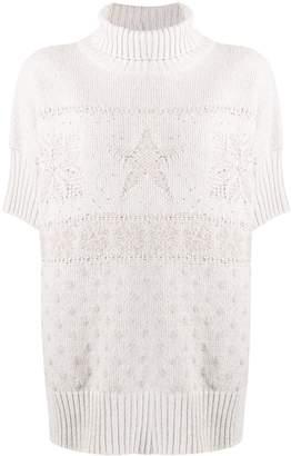 Lorena Antoniazzi tonal intarsia knit jumper