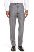 Nordstrom Men's Flat Front Solid Wool Trousers