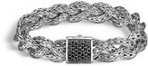 John Hardy Women's Braided Chain 11MM Bracelet in Sterling Silver with Black Sapphire