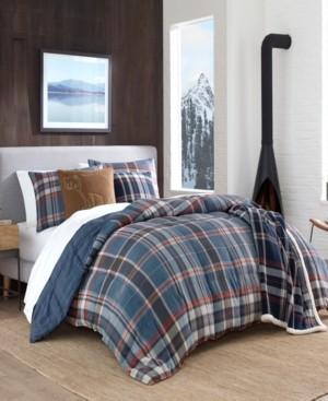 Eddie Bauer Shasta Lake Navy Comforter Set, Twin