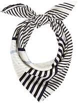 Calvin Klein Women's Silk Logo Foulard Giftpack Scarf, Grey (White,Eclipse and Black 908)
