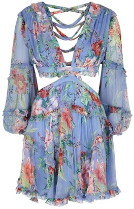 Zimmermann Bellitude floral-print silk mini dress