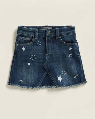 DL1961 Girls 4-6x) Jenny Embroidered Star Skirt