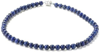 V3 Jewelry Sterling Silver Blue Lapis Bead Necklace