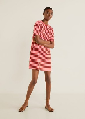 MANGO Message striped dress