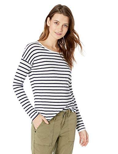 Splendid Women's Long Sleeve Stripe Crew