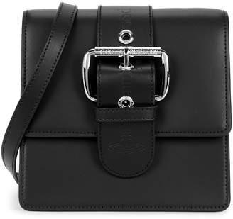 Vivienne Westwood Alex Black Leather Cross-body Bag