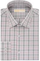 MICHAEL Michael Kors Men's Slim-Fit Non-Iron Gray Multi Dress Shirt