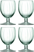 LSA International Mia Partial Optic Wine Glasses - Set of 4