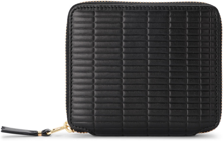Comme des Garcons Brick Line Black Leather Wallet