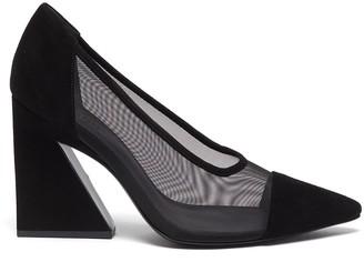 Mercedes Castillo 'Anthea' angle block heel pumps