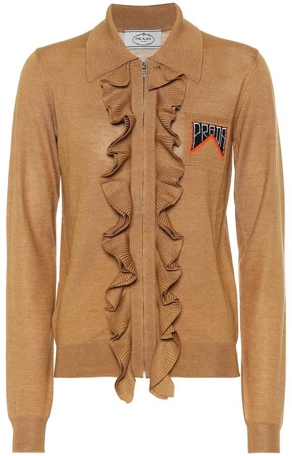 Prada Ruffled wool and silk jacket