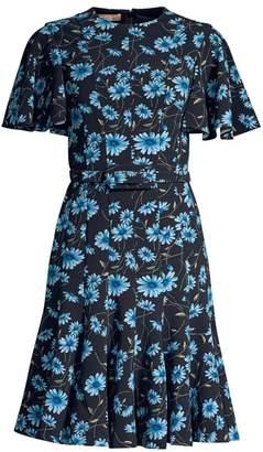Michael Kors Cornflower Belted Dance Dress
