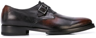 Alberto Fasciani Burnished Monk Shoes