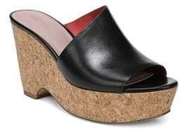 Diane von Furstenberg Bonnie Black Platform Wedge Sandals