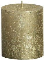Rustic 103667630382 Metallic Pillar Candle, Paraffin Wax, Gold