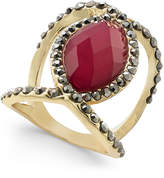 INC International Concepts Gold-Tone Stone Statement Ring, Only at Macy's