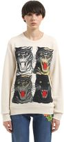 Gucci Sweat-Shirt En Coton Imprimé Ti