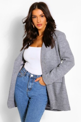 boohoo Wool Look Single Button Jacket