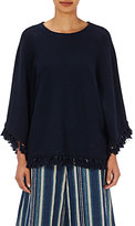 Chloé Women's Tasseled Rib-Knit Sweater-NAVY