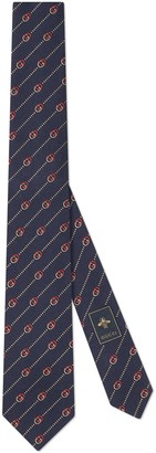 Gucci Interlocking G and dots silk wool tie