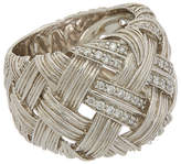 Michael Aram Palm Silver Diamond Ring