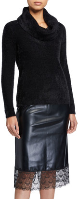MICHAEL Michael Kors Fluffy Cowl-Neck Sweater