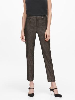 Banana Republic Modern Sloan Skinny-Fit Metallic Plaid Pant