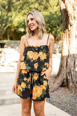 Gibson Look Layered Camisole Romper