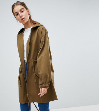 Asos Tall DESIGN Tall light weight parka-Green