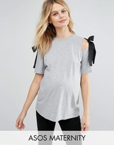 Asos Top with Cold Shoulder and Woven Ties