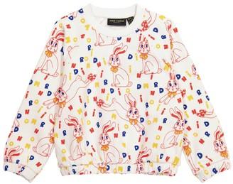 Mini Rodini Rabbit cotton-jersey sweatshirt