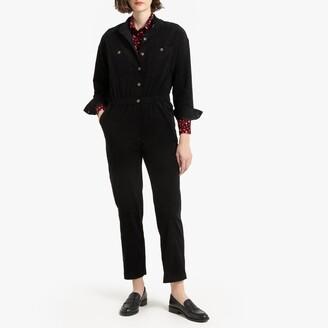 """La Redoute Collections Velvet Boilersuit, Length 27"""""""