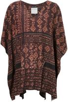 Baja East Baja print poncho - women - Cotton - One Size