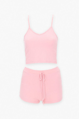 Forever 21 Cropped Cami Shorts Set