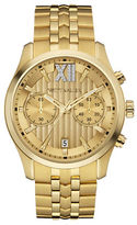 Wittnauer Chronograph Crystal Goldtone Bracelet Watch
