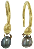 Ten Thousand Things Tahitian Pearl Seed Drop Hoop Earrings