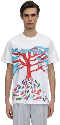 Marni Tree Printed Cotton Jersey T-shirt