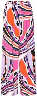 Emilio Pucci Beach Printed jersey pants