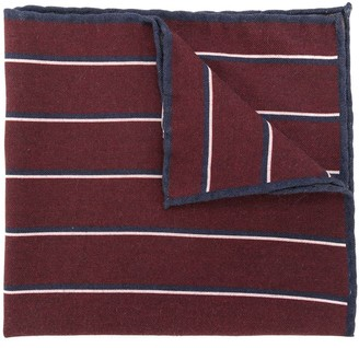 Eleventy Striped Knitted Pocket Square