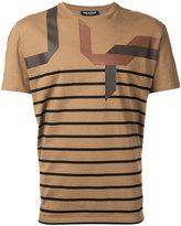 Neil Barrett striped T-shirt - men - Cotton - XS