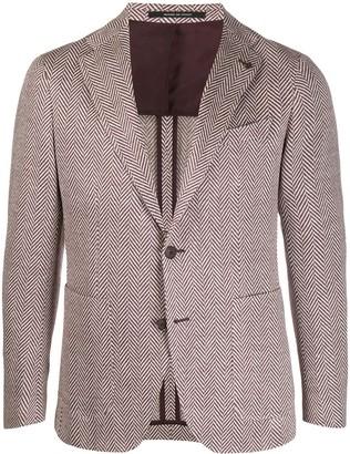 Tagliatore tweed knit suit jacket