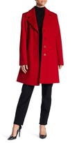 Fleurette Notch Collar Wool Coat